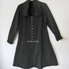 BORIS INDUSTRIES  Traum! Mantelkleid Kleid Cardigan Druckknöpfe schwarz 48 (5)