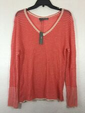 360 Sweater V Neck Women's Pink Cashmere Sweater Size L
