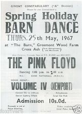 PINK FLOYD Concert Window Poster - 'The Barn' Gwent 1967 - Preprint