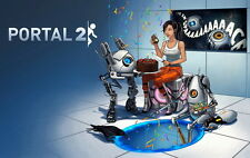 "029 Portal 2 - First Person Puzzle Platform Video Game 22""x14"" Poster"