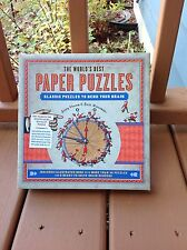The World's Best Paper Puzzles : Classic Puzzles to Bend Your Brain by Jack...