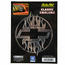 Original Chevy Chevrolet Flammen Bowtie Emblem Aufkleber Decal Sticker Chrom NEU