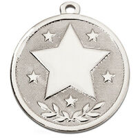 ATTENDANCE STAR METAL MEDALS GOLD SILVER BRONZE FREE RIBBON & FREE P&P AM1026.02