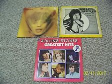 THE ROLLING STONES GOATS HEAD SOUP, INSTANT ANALYSIS, 30 GREAT HITS VINYL LOT 3
