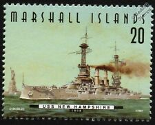 USS NEW HAMPSHIRE (BB-25) Connecticut Class Battleship Warship Stamp (1997)