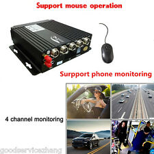 4CH Channel AHD Car Mobile DVR Wireless GPS/BD/G-SENSOR Realtime Video Recorder