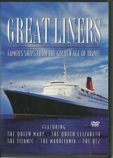 GREAT LINERS FAMOUS SHIPS FROM THE GOLDEN AGE OF TRAVEL DVD - QUEEN MARY & MORE
