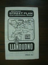 VINTAGE 1972 LLANDUDNO HOLIDAY TOURIST BROCHURE STREET PLAN   04