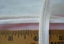 """Rayon style Twisted Lip Cord Piping Trim Cordedge 3/8"""" Ivory White 5 yds pillow"""