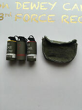 ACE Toys Operation Dewey Canyon Vietnam Smoke x 3 & Mask Case loose 1/6th scale