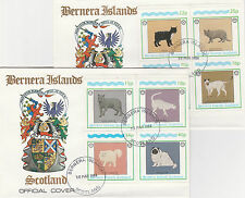 GB Locals - Bernera (2347) Rotary - Cats set of 8 on 2 First Day Covers