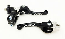 ASV Unbreakable Shorty Black F3 Brake + Clutch Levers KLX 125 / 250 2004 - 2016