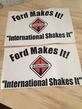 Two 12X6 INTERNATIONAL DIESEL DECAL STICKER NAVISTAR 4X4 TRUCK 4WD