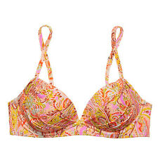 Victoria's Secret Angel Convertible Bikini Top 34A Warm Boho Paisley Foil 8KZ