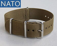"BRACELET MONTRE NATO 18mm (vert kaki ""Baroud"") military hunting outdoor watch"