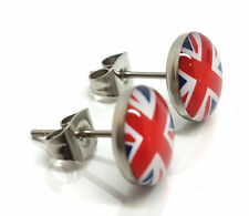 5 Pairs Childrens Boys Girls Fashion Ear Stud Studs Union Jack Logo Earring