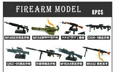 8x 4D Model Kit Firearms Assembling Guns 1:6 Scale Layout BOX SET NEW