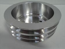 SB Chevy Aluminum Crankshaft Pulley 3 Groove LWP Long Water Pump SBC 350 Crank