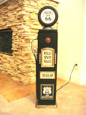 """42""""Route 66 Black Gas Pump Cabinet with light. Man Cave/Gameroom Decor."""