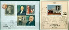 Penny Black Rowland Hill First Postage Stamp Gabon MNH stamps set 4val+s/s