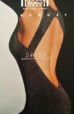 Wolford Stardust Dress Kleid Metallics Silber XS 34 Rückenfrei 495€