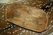 Carved Wooden Dough Bowl Primitive Wood Trencher Tray Rustic Home Decor 18 inch