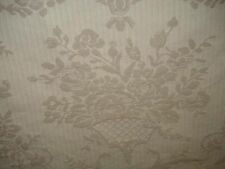 IVORY BROCADE WHEAT  WOVEN  FLORAL UPHOLSTERY FABRIC