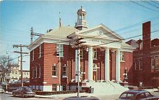 NORWALK CONNECTICUT CITY HALL~41 NORTH MAIN STREET~NOW A MUSEUM POSTCARD c1950s