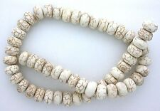 12mm x 7mm Rondelle Magnesite Buffalo Turquoise Bead Strand 15 Inch Strand MB156