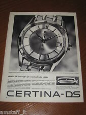 AB23=1963=CERTINA DS OROLOGIO WATCH=PUBBLICITA'=ADVERTISING=WERBUNG=