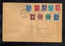 1944 Les Rousses Jura France cover Overprinted Stamps