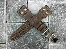 22mm Leather Strap Deployment Buckle Brown Watch Band SET IWC Portugue BIG PILOT