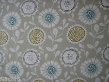 "SCION/HARLEQUIN CURTAIN FABRIC DESIGN ""Anneke"" 3.5 METRES HONEY/CHALK/SEAGLASS"