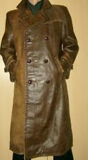 Men's RARE! Genuine 1940's German Officer Leather Jacket Coat 52 / UK 42 / L