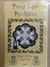 ANGEL KITTIES CANDLE MAT SEWING PATTERN, From Penny Lane Primitives, NEW