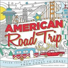 NEW (2DAY SHIP) American Road Trip: Color Your Way to Calm from Coast PAPERBACK