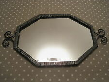Miroir Mural Fer Forgé Martelé Noir Losange ART DECO Wrought iron mirror Spiegel