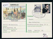 """93622) Bahnpost Ovalstempel, Hamburg - Frankfurt ZUG 00773 """"i"""" So-GA 1985 Bedarf"""