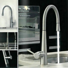 New Brushed Nickel  Kitchen Sink Pull Out Spray Tap MIxer Swivel Faucet AU2143