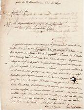 Général & député FREGEVILLE autographe / REVOLUTION