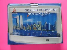 Vintage Seabed Aquarium Motion Lamp NY Skyline Statue of Liberty Twin Towers