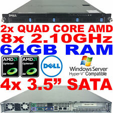 Double AMD Quad Core Dell PowerEdge CS24-NV7 Rack Serveur 2.1GHz 64GB