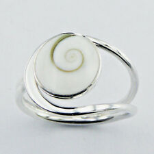 USA Seller Shiva Eye Shell Ring Sterling Silver 925 Best Deal Jewelry Size 7