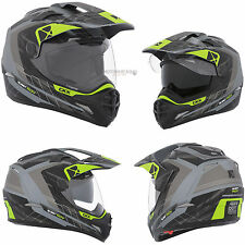 Dual Sport Helmet Off Road CKX Quest RSV Liberty Green Black Mat Large Adult