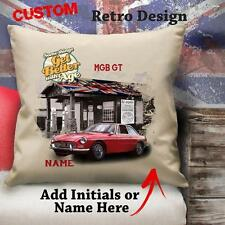 Personalised MGB GT Vintage Car Classic Cushion Canvas Cover Gift