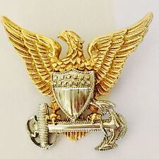 Sterling Silver US Coast Guard 1/20 10K Gold Filled American Eagle Anchor Pin