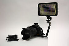 Pro 4K 2 HD LED video light with AC power adapter for Sony NX30U NX5U NX5P NX70U