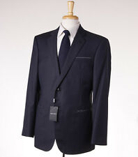 NWT $3995 GIORGIO ARMANI BLACK LABEL 'Wall Street' Super 150s Wool Suit 38 R