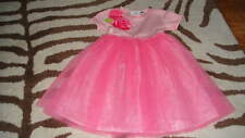 BOUTIQUE BABY LULU 3T PINK TULLE FLOWER DRESS TWINS SISTERS