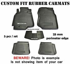 Rubber Carmats for Subaru Forester 2008-2012 SH All Weather Fully Tailored Mats